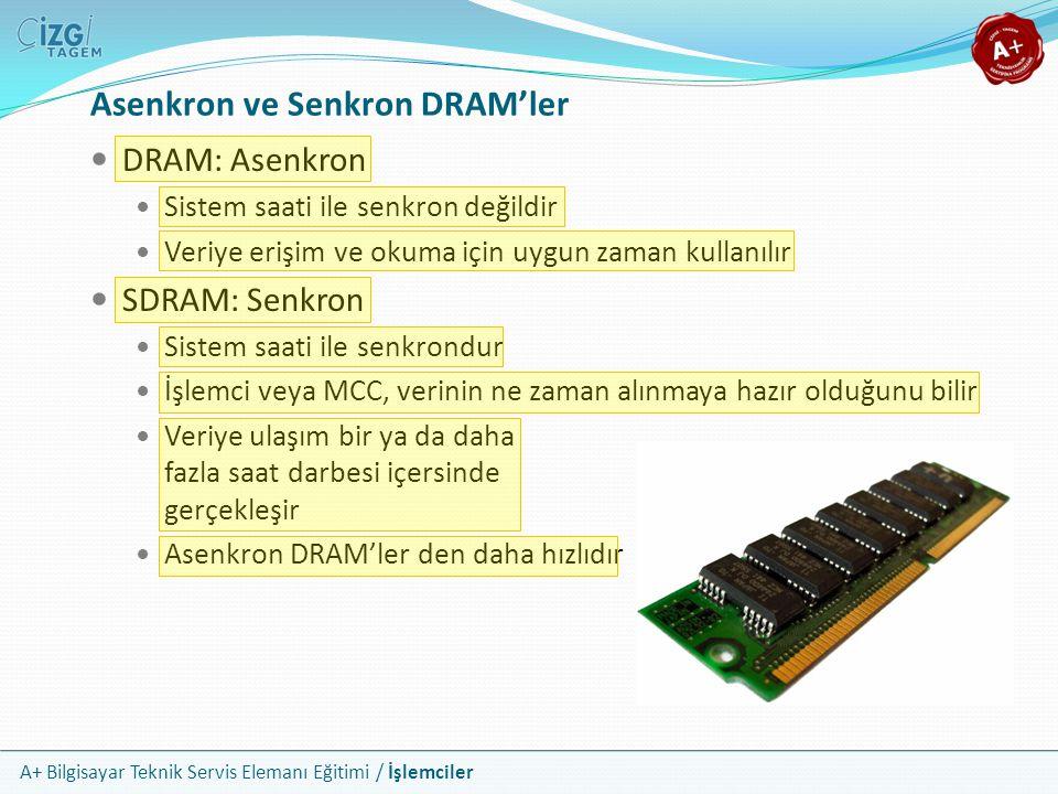 Asenkron ve Senkron DRAM'ler