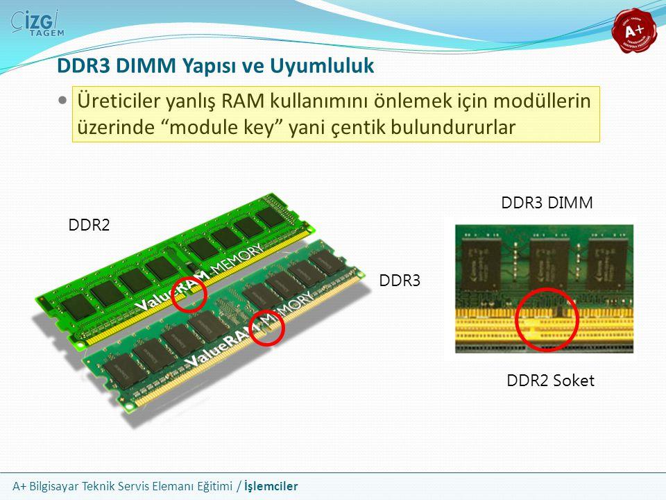 DDR3 DIMM Yapısı ve Uyumluluk