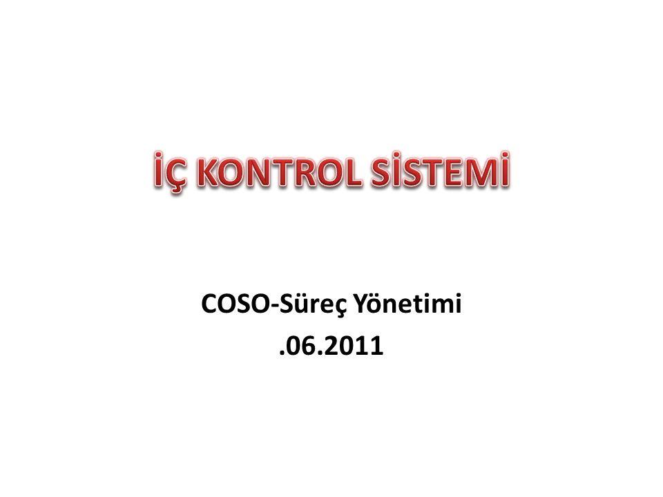 İÇ KONTROL SİSTEMİ COSO-Süreç Yönetimi .06.2011