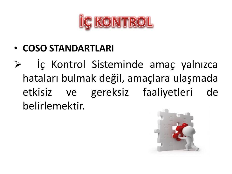 İÇ KONTROL COSO STANDARTLARI