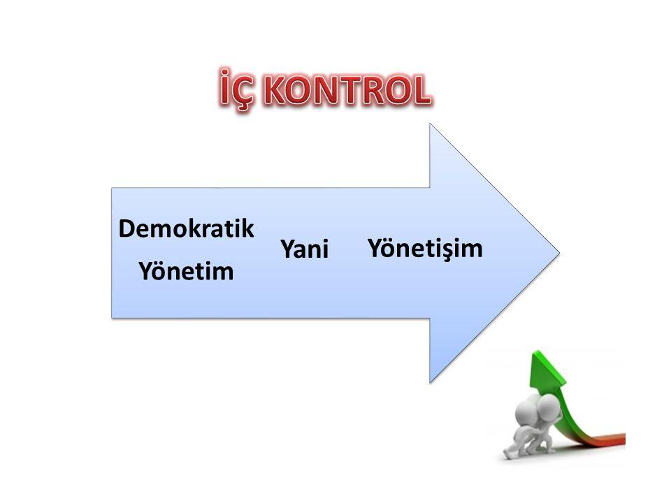 İÇ KONTROL Yönetişim Yani Demokratik Yönetim