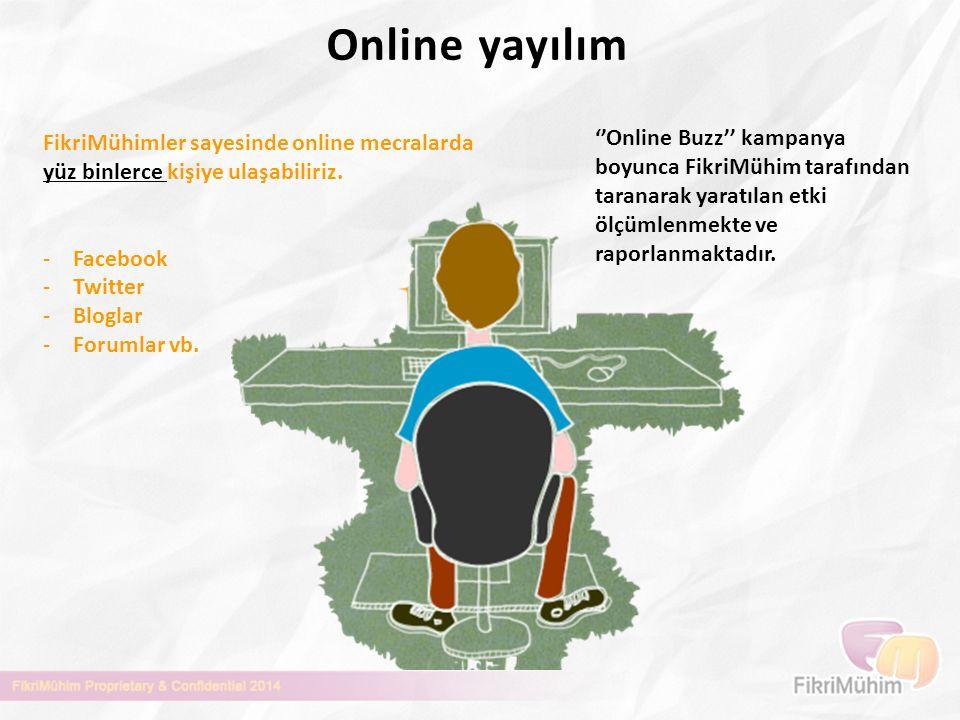 Online yayılım FikriMühimler sayesinde online mecralarda. yüz binlerce kişiye ulaşabiliriz. Facebook.