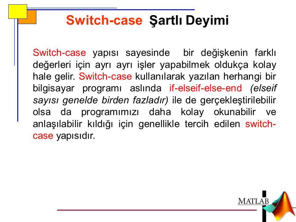 Switch-case Şartlı Deyimi