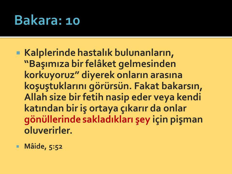 Bakara: 10