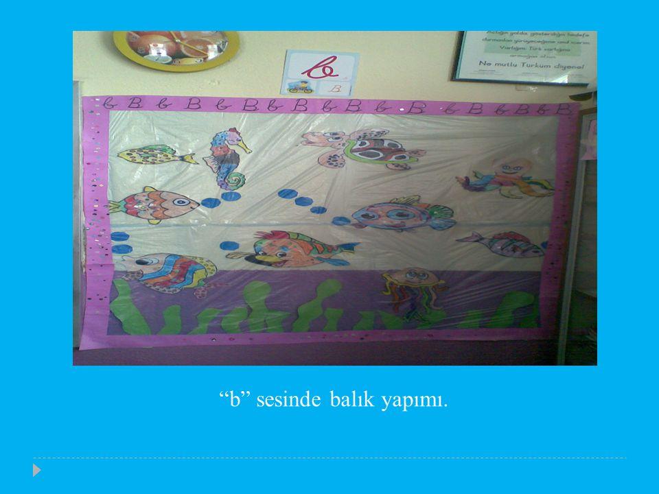 b sesinde balık yapımı.