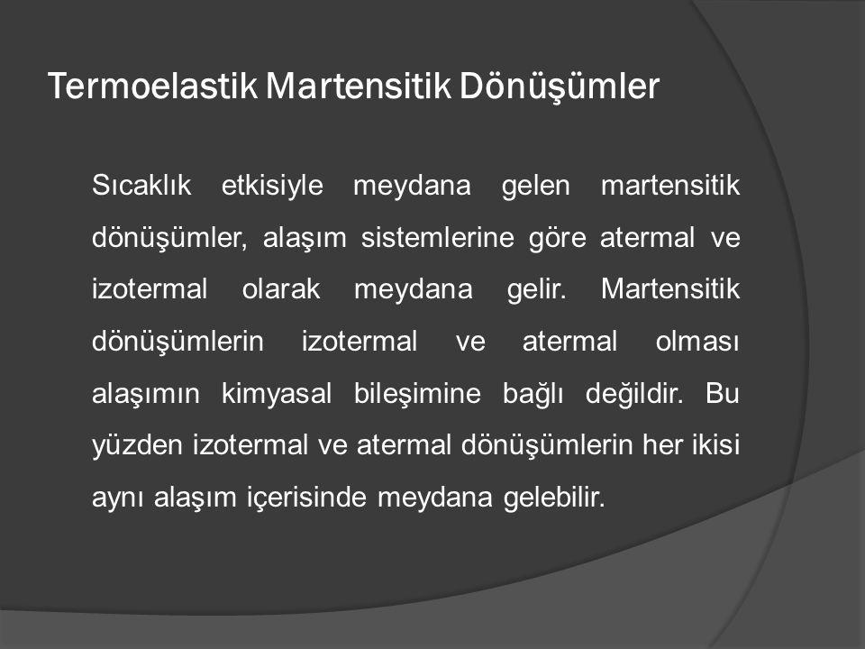 Termoelastik Martensitik Dönüşümler
