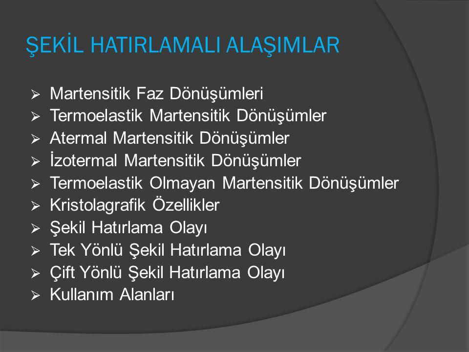 ŞEKİL HATIRLAMALI ALAŞIMLAR