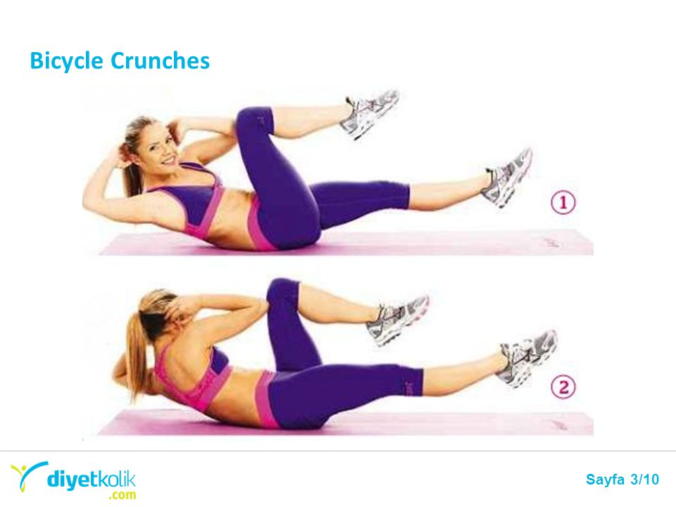 Bicycle Crunches Sayfa 3/10