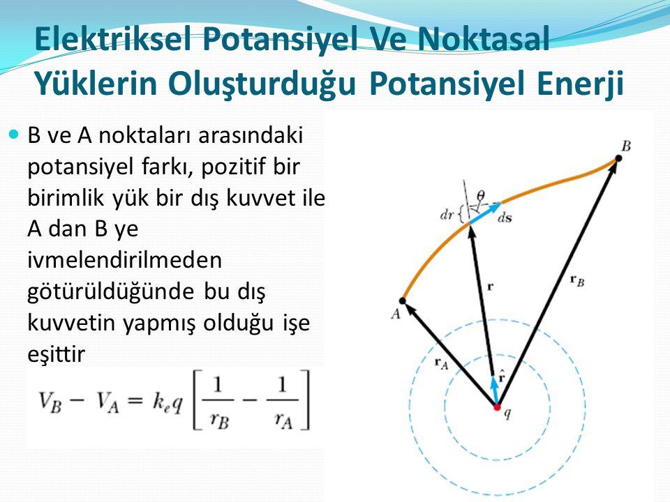 Elektriksel Potansiyel Ve Noktasal Yüklerin Oluşturduğu Potansiyel Enerji