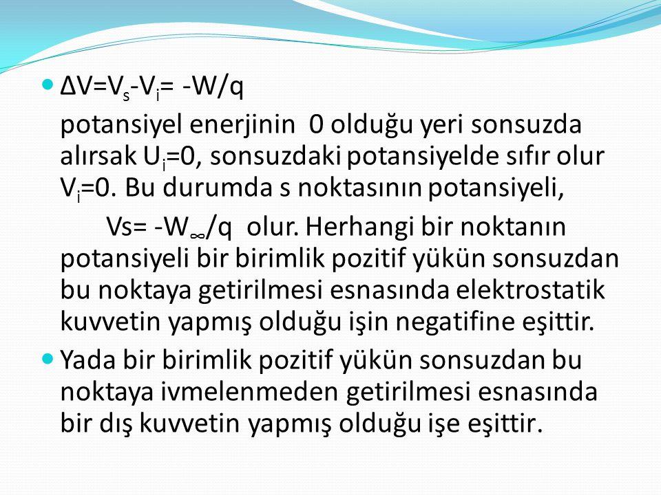 ∆V=Vs-Vi= -W/q