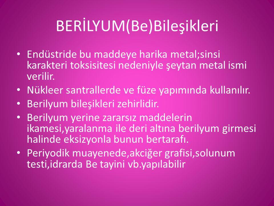 BERİLYUM(Be)Bileşikleri