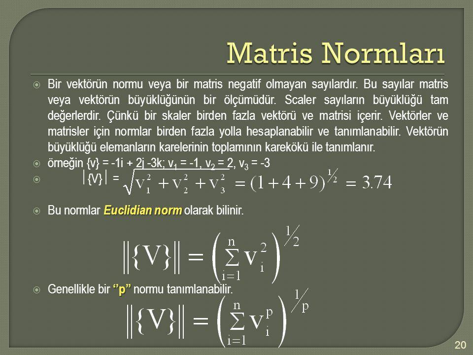 Matris Normları