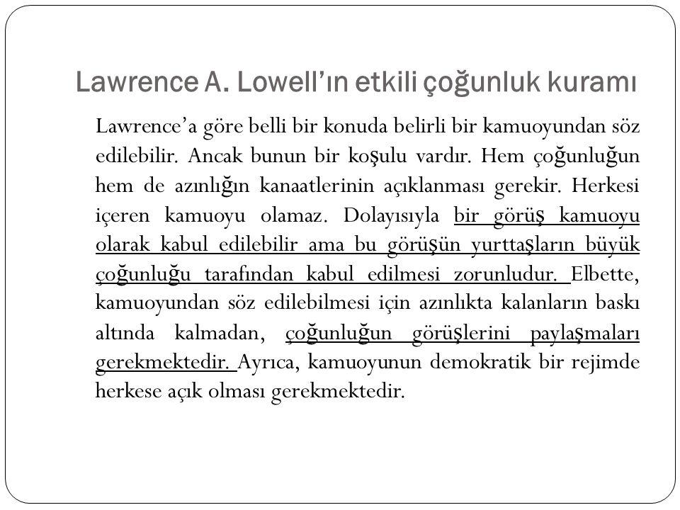 Lawrence A. Lowell'ın etkili çoğunluk kuramı