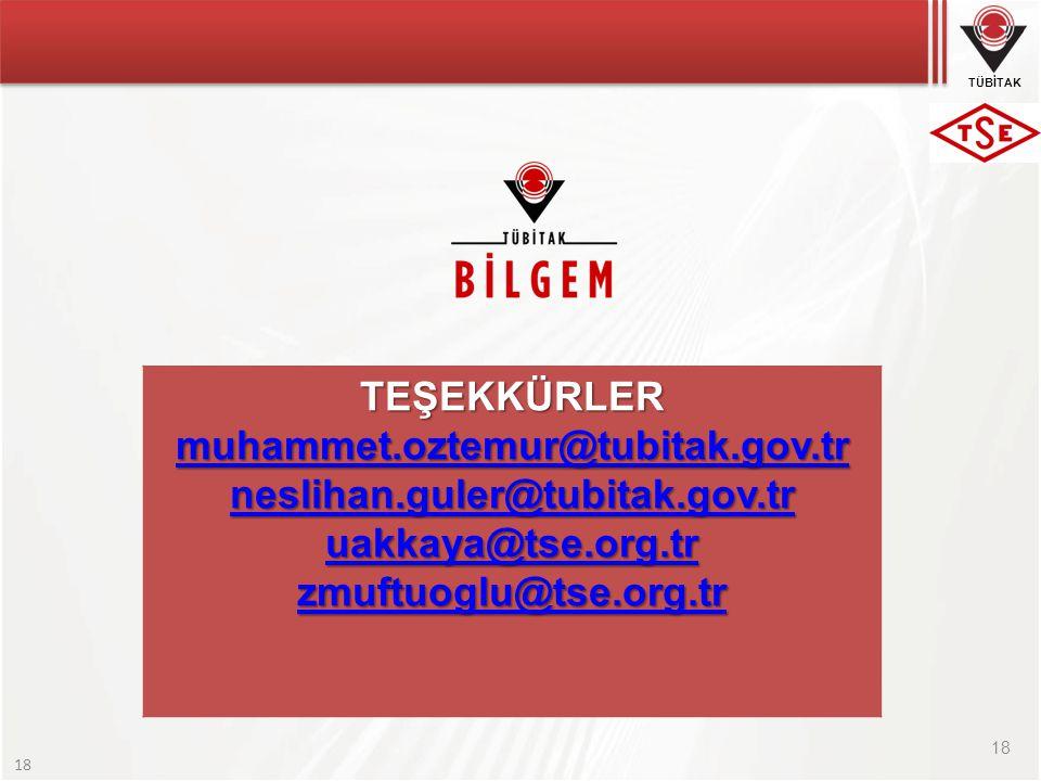 TEŞEKKÜRLER muhammet.oztemur@tubitak.gov.tr