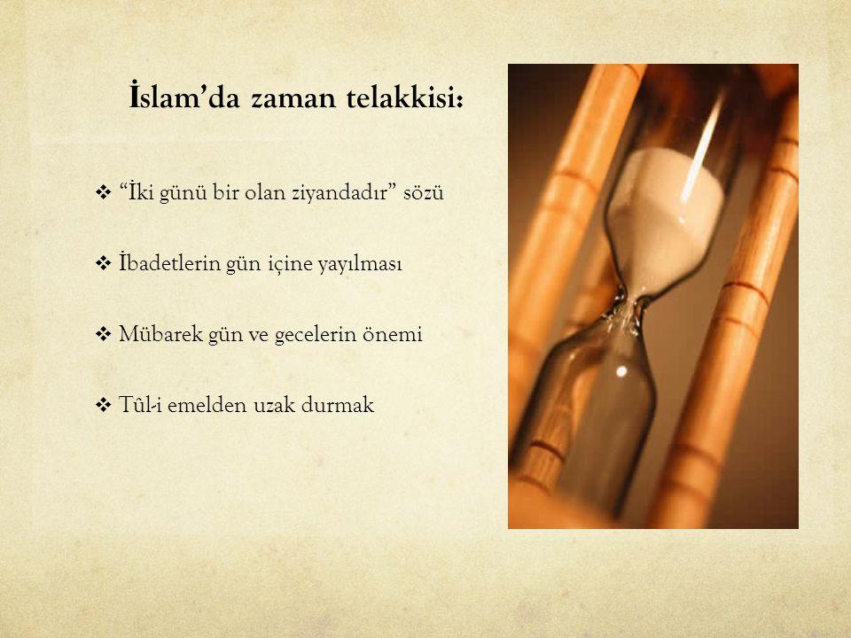 İslam'da zaman telakkisi: