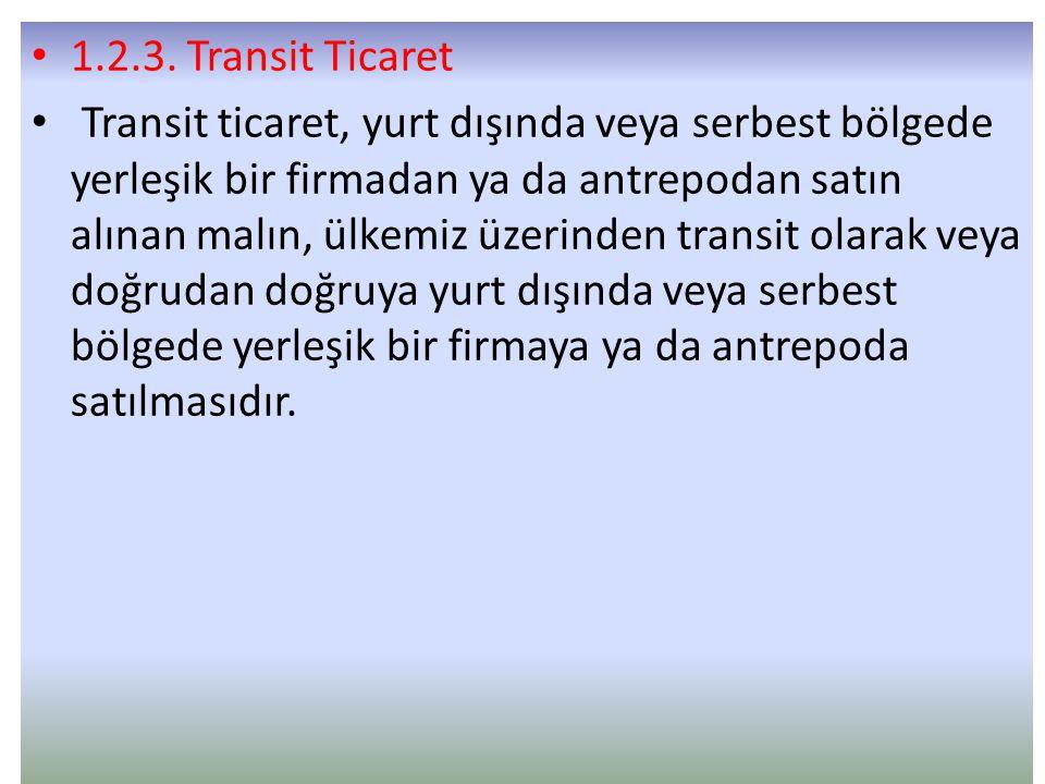 1.2.3. Transit Ticaret