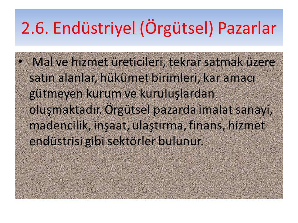 2.6. Endüstriyel (Örgütsel) Pazarlar