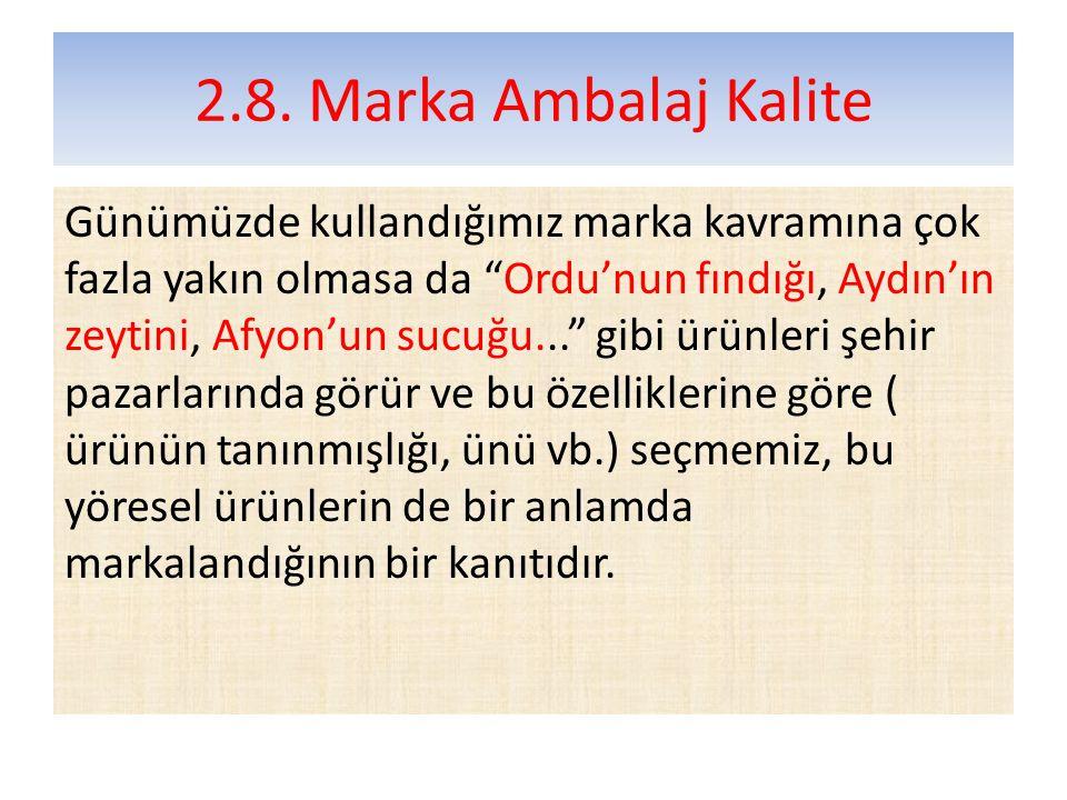 2.8. Marka Ambalaj Kalite