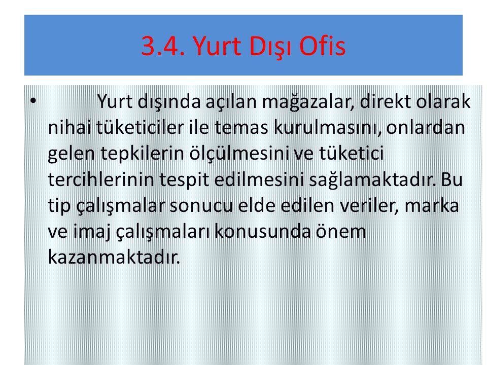3.4. Yurt Dışı Ofis