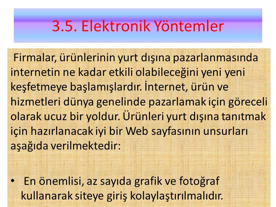 3.5. Elektronik Yöntemler