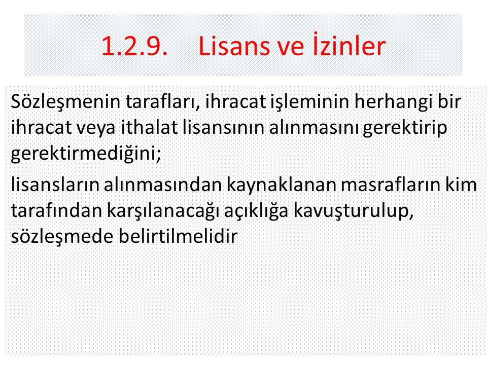 1.2.9. Lisans ve İzinler