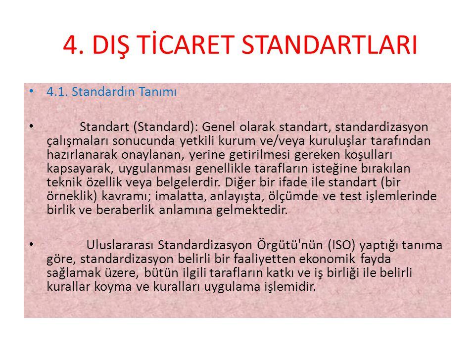 4. DIŞ TİCARET STANDARTLARI