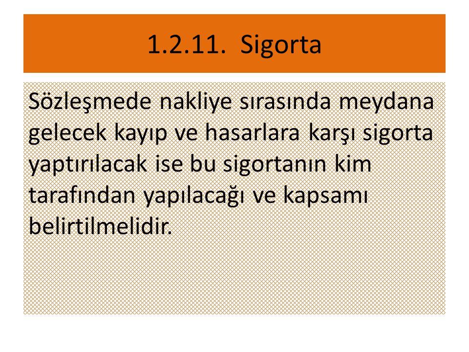 1.2.11. Sigorta