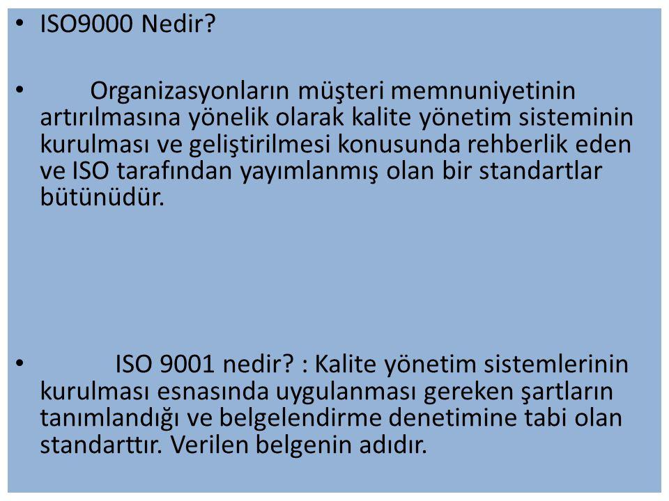 ISO9000 Nedir