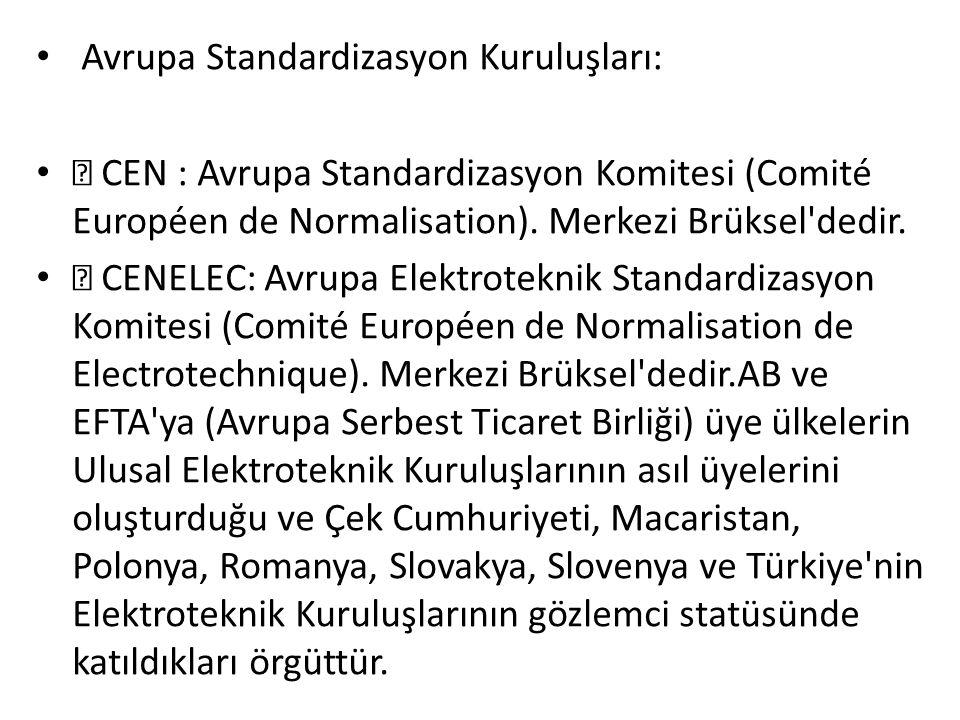 Avrupa Standardizasyon Kuruluşları: