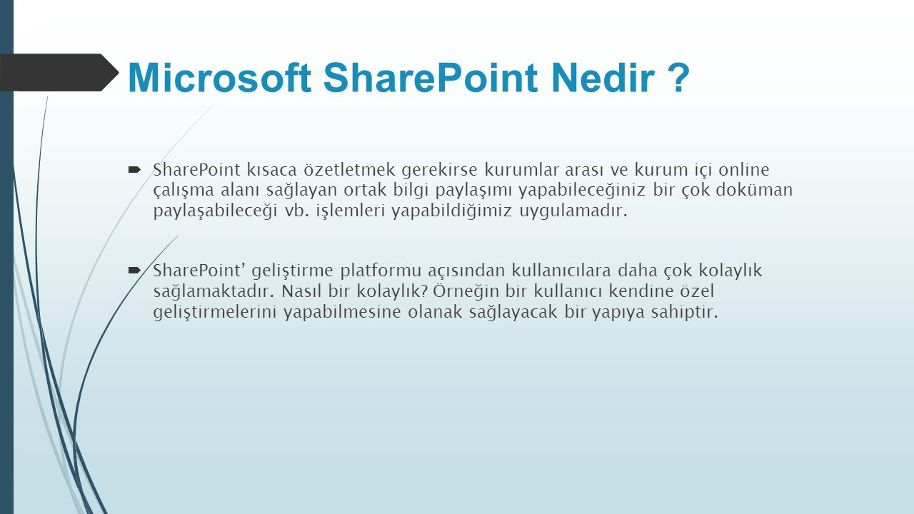 Microsoft SharePoint Nedir