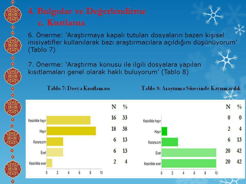 4. Bulgular ve Değerlendirme c. Kısıtlama