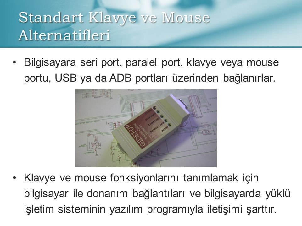 Standart Klavye ve Mouse Alternatifleri