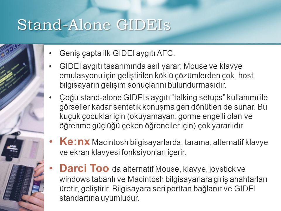 Stand-Alone GIDEIs Geniş çapta ilk GIDEI aygıtı AFC.