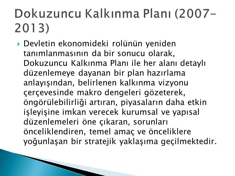 Dokuzuncu Kalkınma Planı (2007-2013)