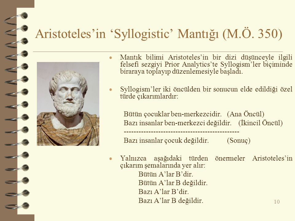 Aristoteles'in 'Syllogistic' Mantığı (M.Ö. 350)