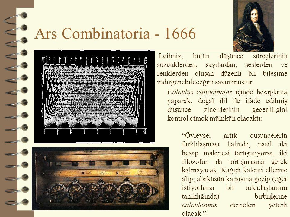 Ars Combinatoria - 1666