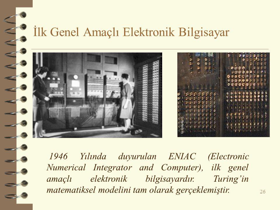 İlk Genel Amaçlı Elektronik Bilgisayar