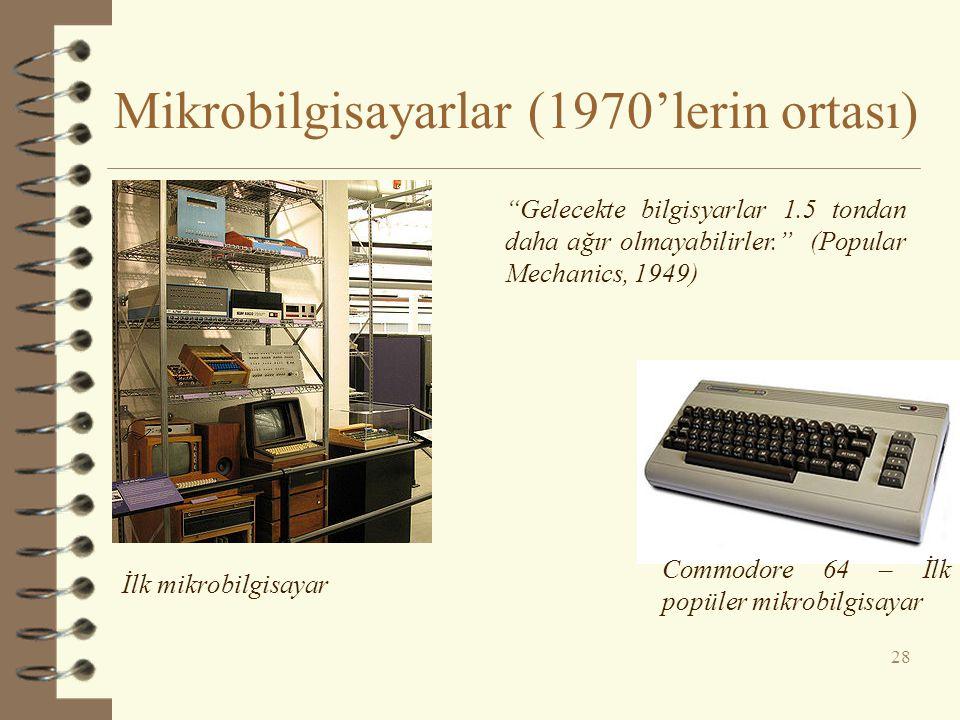 Mikrobilgisayarlar (1970'lerin ortası)