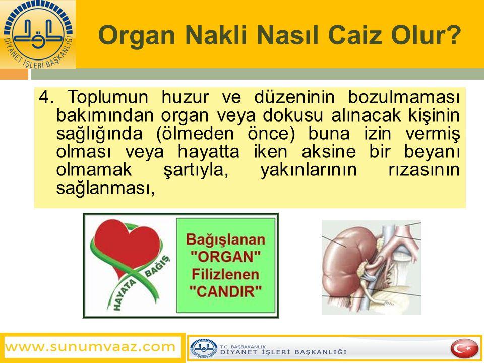 Organ Nakli Nasıl Caiz Olur