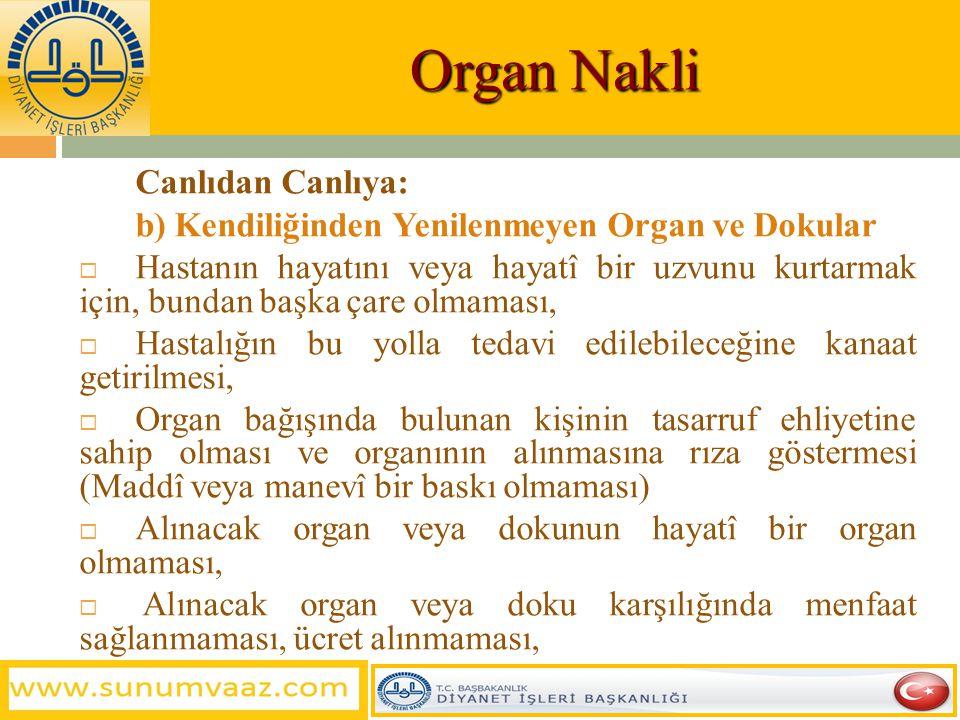 Organ Nakli Canlıdan Canlıya: