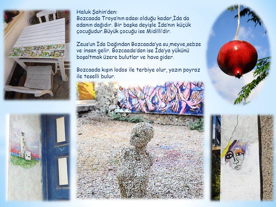 Haluk Şahin'den: Bozcaada Troya'nın adası olduğu kadar,İda da adanın dağıdır. Bir başka deyişle İda'nın küçük çocuğudur.Büyük çocuğu ise Midilli'dir.