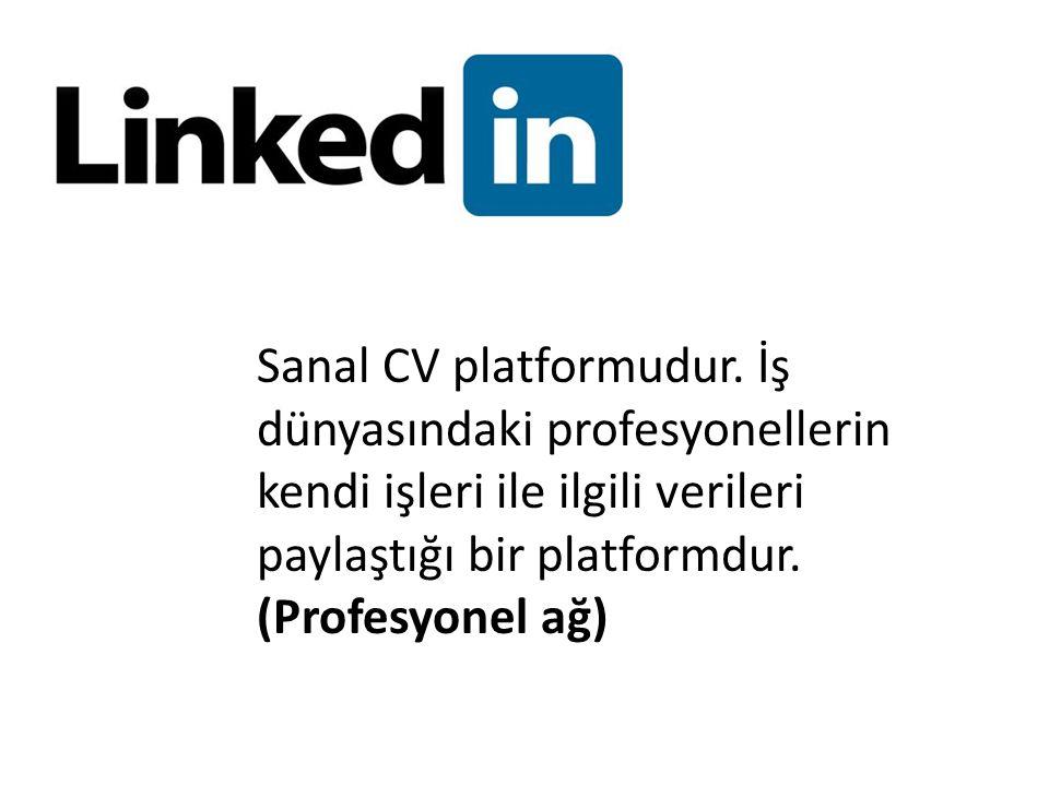Sanal CV platformudur.