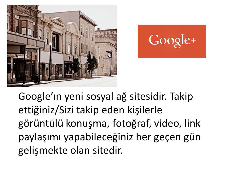 Google'ın yeni sosyal ağ sitesidir