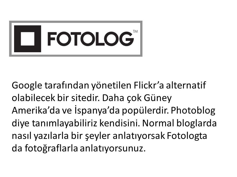Google tarafından yönetilen Flickr'a alternatif olabilecek bir sitedir