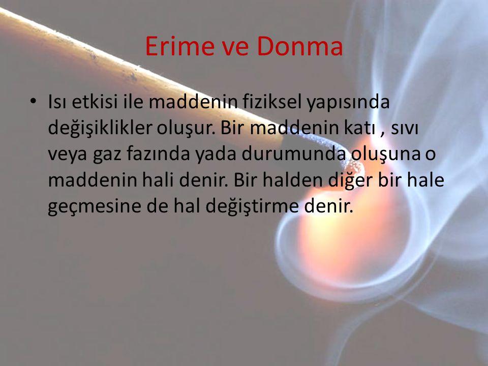 Erime ve Donma