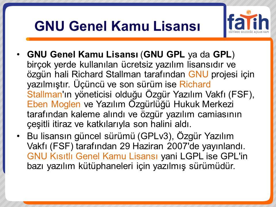GNU Genel Kamu Lisansı