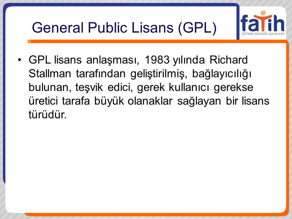 General Public Lisans (GPL)