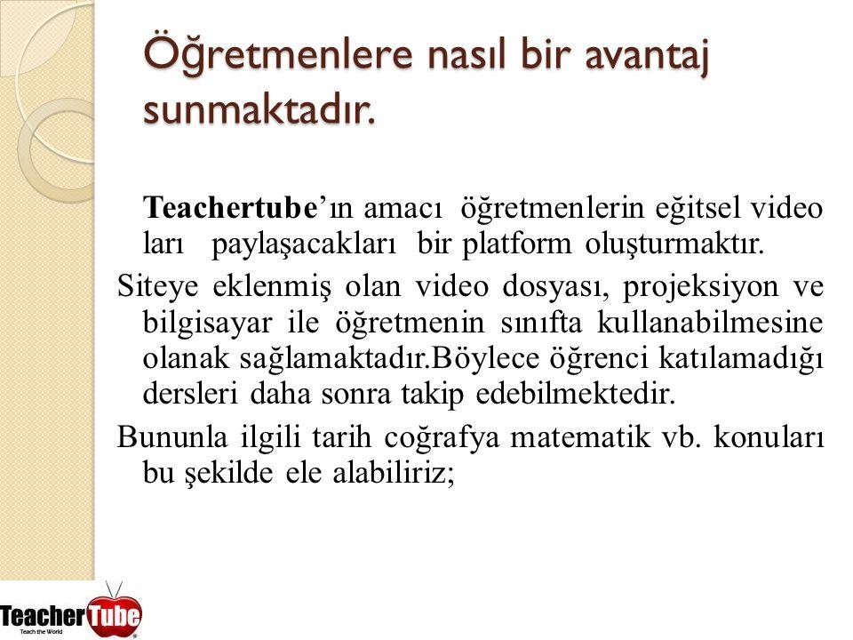 Öğretmenlere nasıl bir avantaj sunmaktadır.