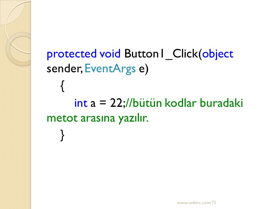 protected void Button1_Click(object sender, EventArgs e) {