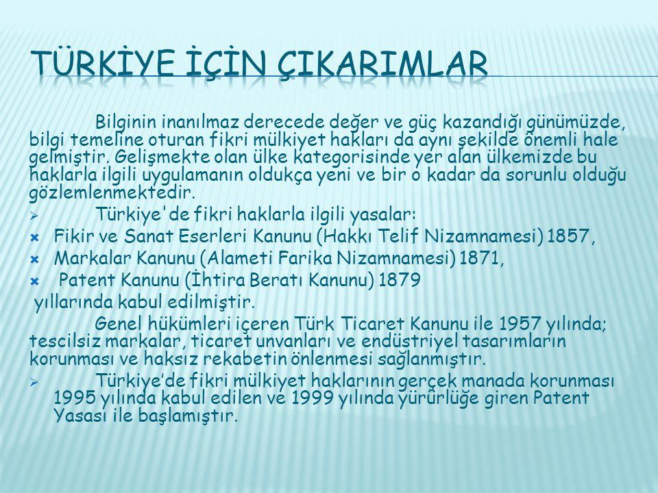 Türkİye İçİn ÇIkarImlar